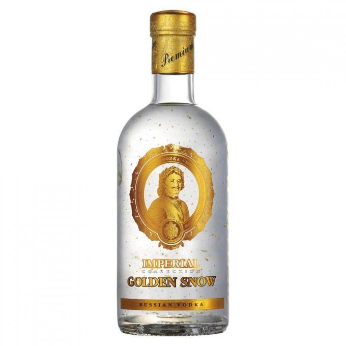 Golden Snow vodka med guld