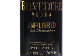 Belvedere Vodka Diamond Rye Unfiltered