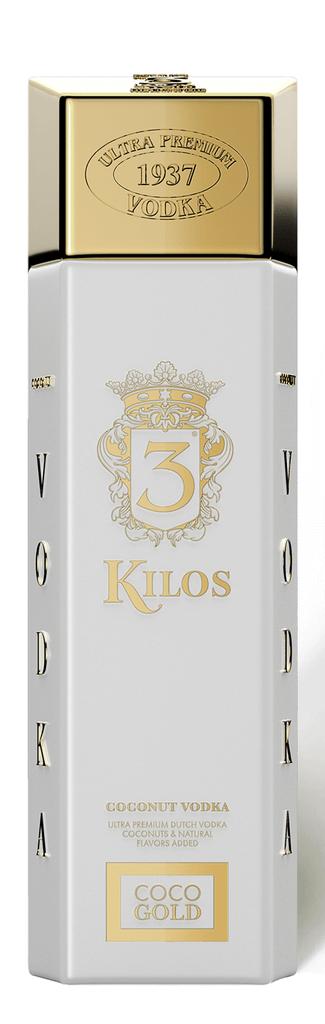 3 Kilo Coco Gold Vodka 0,75