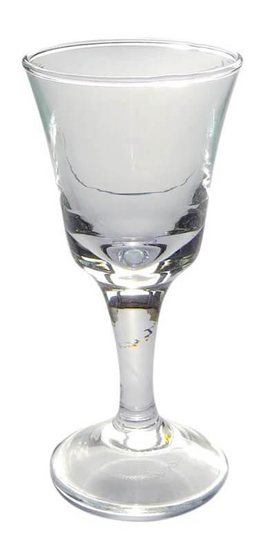Vodkaglas på stilk