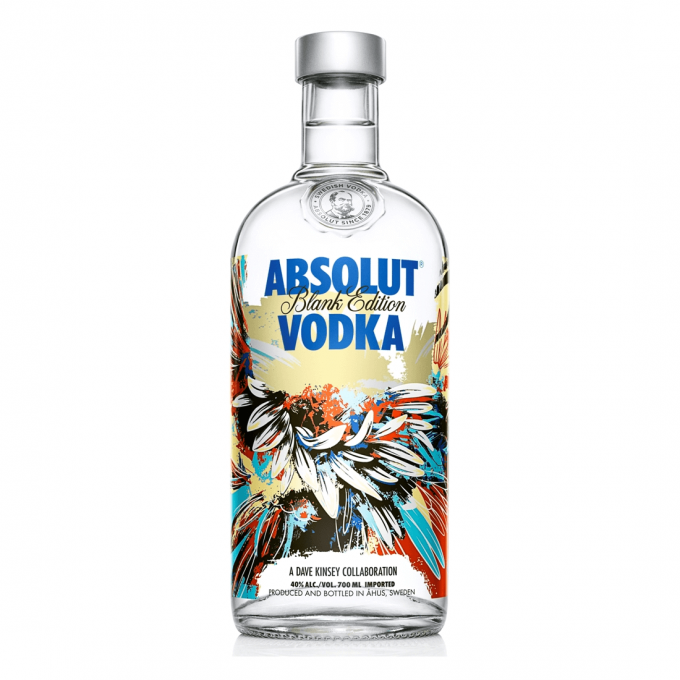 Absolut Blank Dave Kinsey Vodka